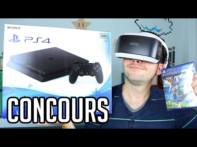 joffre une ps4 et le nouveau casque playstation vr. Black Bedroom Furniture Sets. Home Design Ideas
