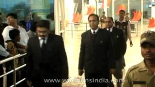 Ranchi India  City pictures : Mahender Singh Dhoni, Indian cricketer, at Ranchi airport
