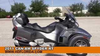 3. Used 2011 Can Am Spyder RT Trike for sale in Florida - Three Wheeler