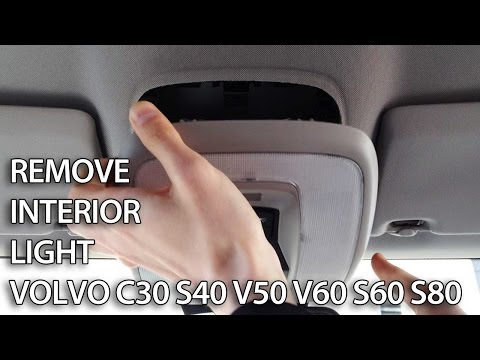 How to replace interior light bulbs in Volvo C30 S40 V50 V60 S60 S80 (tuning LED)