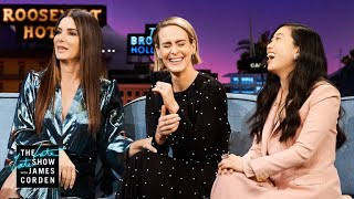 Video Sandra Bullock, Sarah Paulson & Awkwafina Forget James Was In 'Ocean's 8' MP3, 3GP, MP4, WEBM, AVI, FLV Agustus 2018