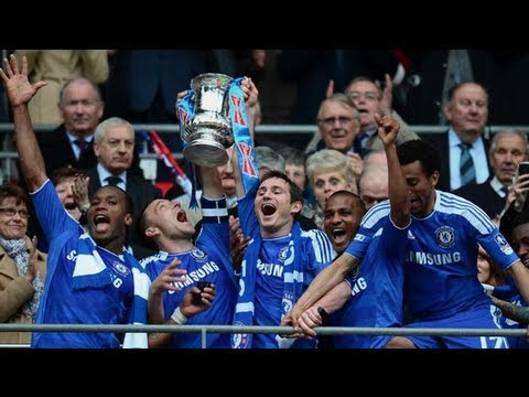 Chelsea Celebrations And Player Reactions | The FA Cup Final 2012