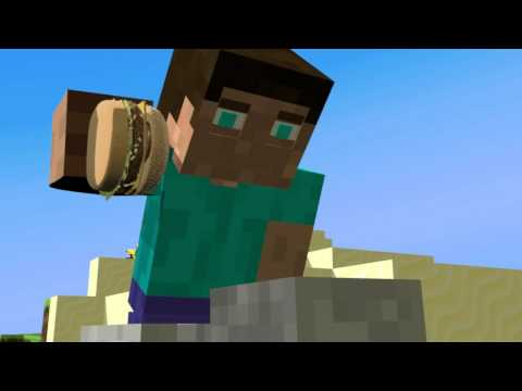 Discovery Of a Burger - Minecraft Animation