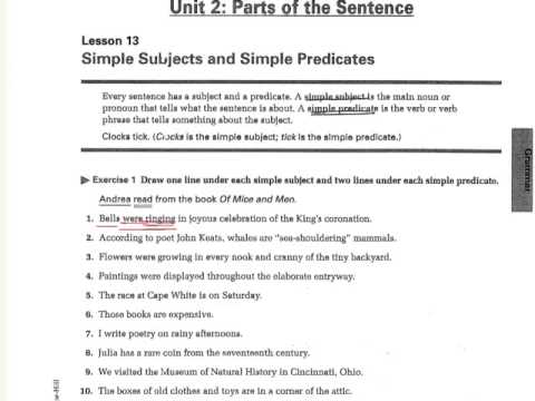 simple and complete predicate worksheets 4th grade 16 best images of complete predicate. Black Bedroom Furniture Sets. Home Design Ideas
