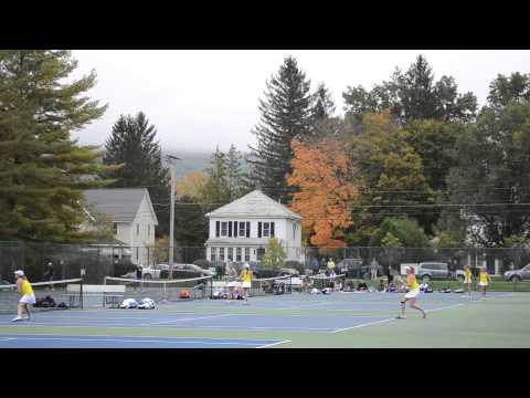 Women's Tennis Beats Amherst 6-3 10/5/13