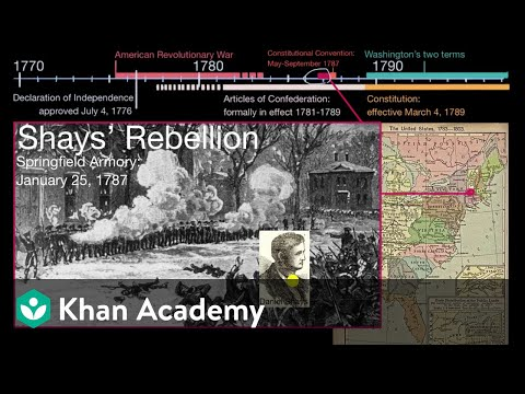 The Articles Of Confederation And Shays Rebellion Video Khan