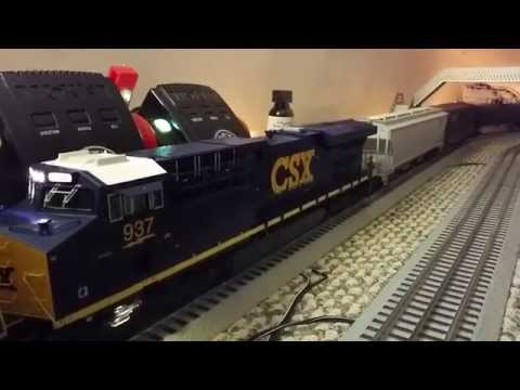 ES44AC - This video was filmed at 60fps so it looks a little different than my other videos. Diesel Engine, Steam Engine, RailKing, DCS, Protosound PS 2.0 3.0 MTH Tra...