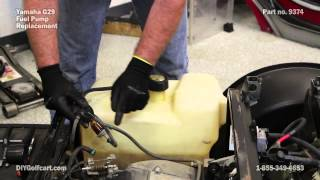 8. Yamaha Fuel Pump Install on G29 Drive | Gas Golf Cart Fuel Pump