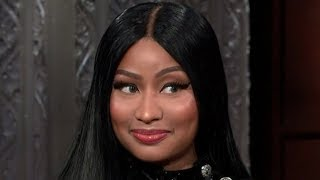 Nicki Minaj Gets FLIRTY With Stephen Colbert & Raps R-Rated Lyrics