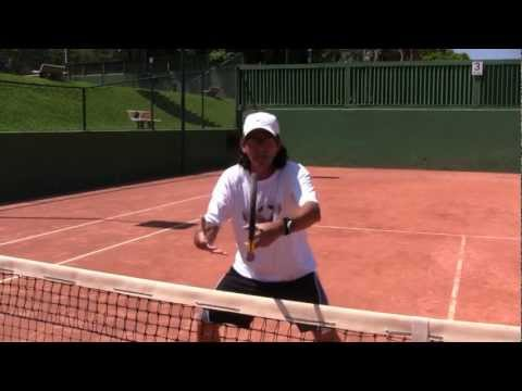 "Tennis Tips: Volleys: Be A ""Zorro Goalie"" At The Net!"