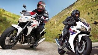 9. Test-Video   Neue Honda CBR500R und CB500F 2013   Action, Onboard, Details