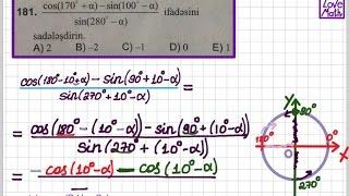 171.,181.,191. testlər —Triqonometrik Funksiyalar üçün Toplama Teoremi