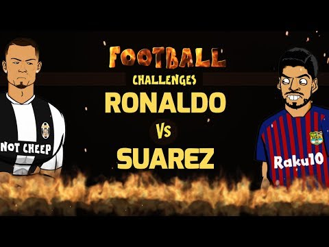 🔥RONALDO vs SUAREZ: Football Challenges!🔥 (Parody)