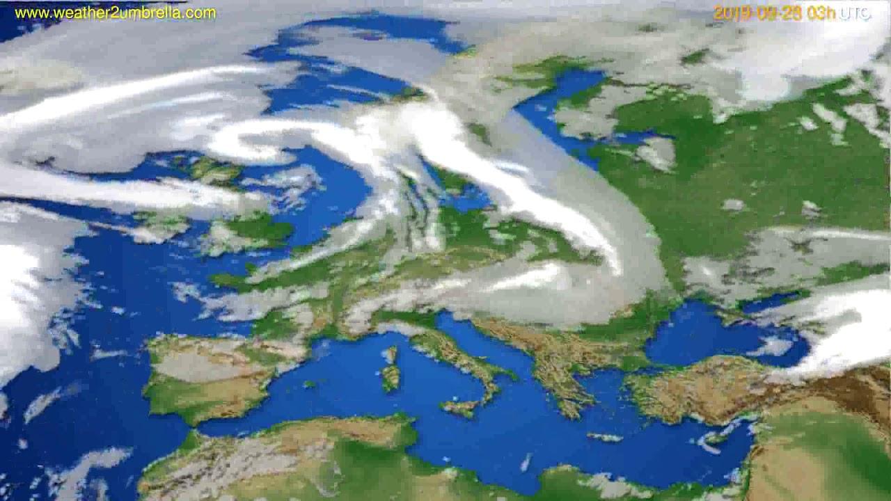 Cloud forecast Europe // modelrun: 00h UTC 2019-09-25