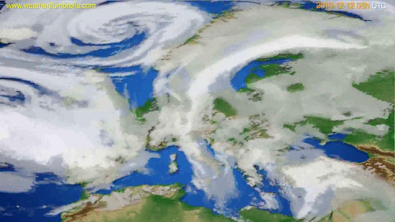Cloud forecast Europe // modelrun: 12h UTC 2019-12-11