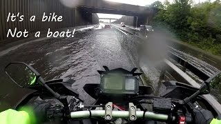 10. Yamaha MT-09 Tracer FJ-09 Riding in Deep Water