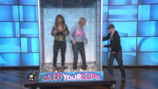 Ellen and Halle Berry Stuff Their Cups