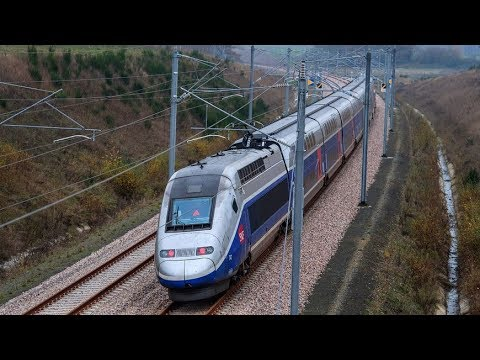 Fighter Jet Escorts French TGV Train