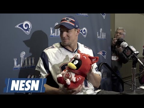 Video: Best Moments Of Rob Gronkowski Super Bowl 53 Press Conference