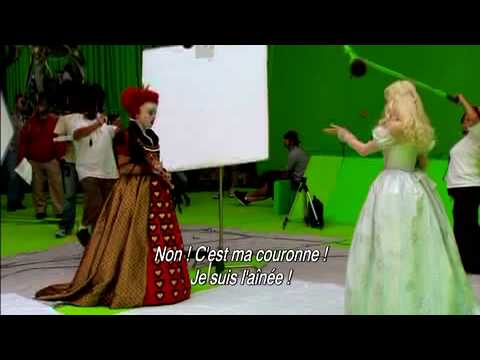 Alice au pays des merveilles - DVD - Making of La Reine Rouge