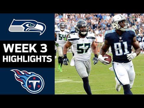 Seahawks vs. Titans | NFL Week 3 Game Highlights (видео)