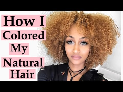 HOW I COLORED MY NATURAL CURLY  HAIR GOLDEN HONEY BLONDE + PRODUCTS USED + TIPS