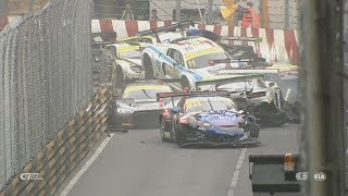 Video FIA GT World Cup 2017. Qualification Race Macau Grand Prix. Huge Pile Up MP3, 3GP, MP4, WEBM, AVI, FLV November 2017