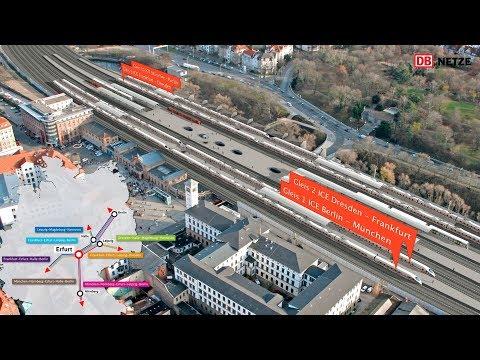 VDE 8: Der Bahnknoten Erfurt – Bau des ICE-Kreuzes in M ...