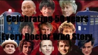 A video celebrating 50 years of my favourite show, Doctor Who. This tribute shows 3 second clips from every Doctor Who story! Hope you enjoy! This video is ...