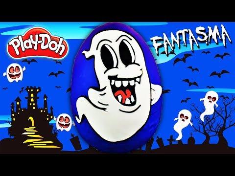 Huevo Sorpresa Gigante de Halloween de Fantasma de Plastilina Play Doh en Español