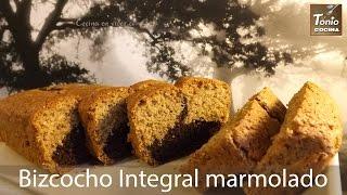 Bizcocho Integral marmolado de vainilla y chocolate  Marbel c...