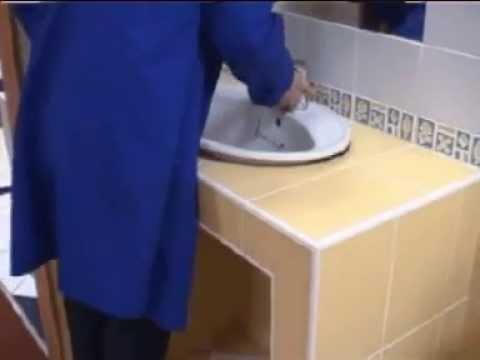 comment poser vasque sur plan de travail