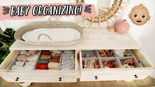 ORGANIZING THE BABY'S CLOSET & CLOTHES! by Aspyn + Parker