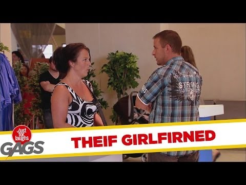 Shoplifting Girlfriend Prank Surprises Boyfriend