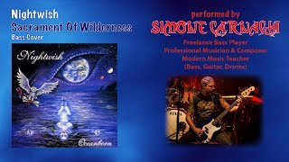 Simone Carnaghi performing Nightwish - Sacrament of wilderness (Bass cover)