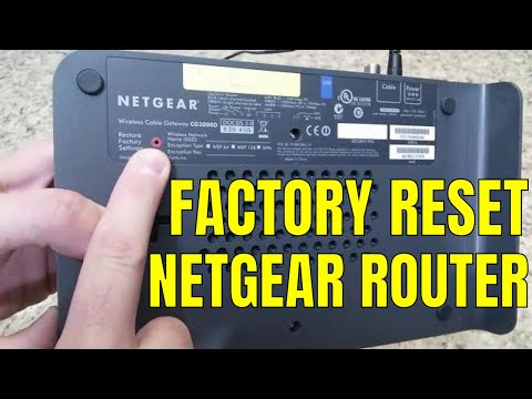 Reset/Restore Netgear Wireless Router to Factory Default Settings