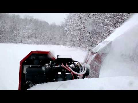 Snow blower on the jeep