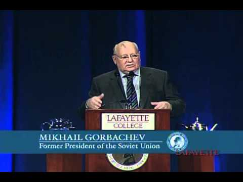 Michail Gorbatschow am Lafayette College: Prespektiven der globalen Veränderung