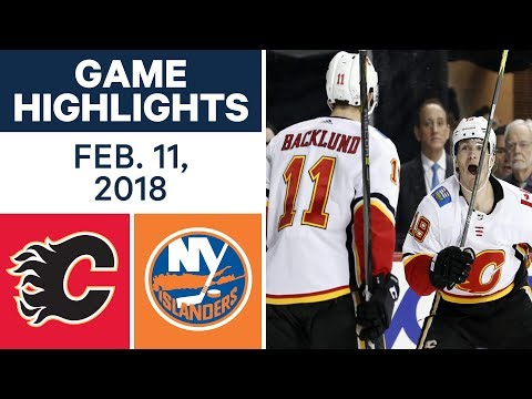 Video: NHL Game Highlights | Flames vs. Islanders - Feb. 11, 2018