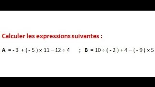Maths 5ème - Les nombres relatifs repérage Exercice 8