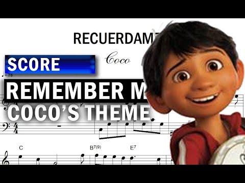 Score: Coco - Remember Me (Download PDF)