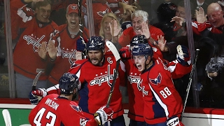 Nicklas Backstrom, Evgeny Kuznetsov, and Alex Ovechkin all scored in the final period for the Capitals, as they force a Game Six against the Penguins.