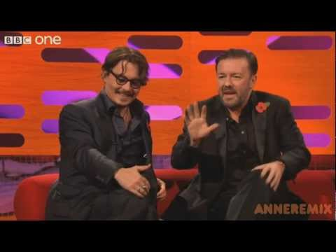 Funny Johnny Depp at the Graham Show
