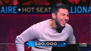 Video The luckiest quiz show contestant ever? Hot Seat Millionaire (Australia) MP3, 3GP, MP4, WEBM, AVI, FLV Agustus 2019