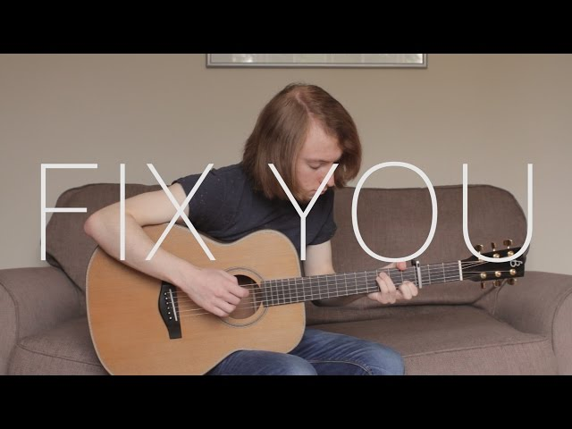 Coldplay Fix You Fingerstyle Guitar Cover With Tabs : AllMusicSite.com
