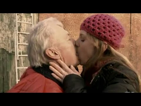 YOUNG GIRLS KISSING OLD MAN PART 3