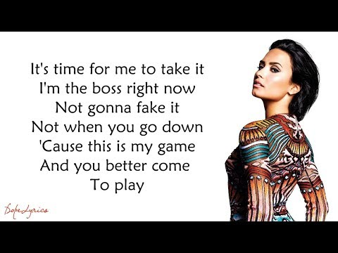 Confident - Demi Lovato (Lyrics)