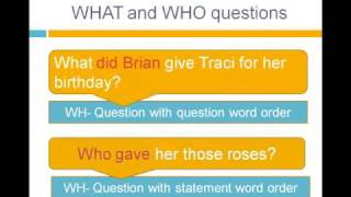 Reported Speech Wh Questions, English Grammar Lesson 14