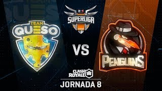 SUPERLIGA ORANGE - TEAM QUESO VS PENGUINS- Jornada 8 - #SuperligaOrangeCR8