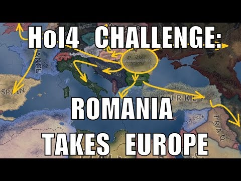 Hearts of Iron 4 Challenge: Romania annexes Europe and more (видео)